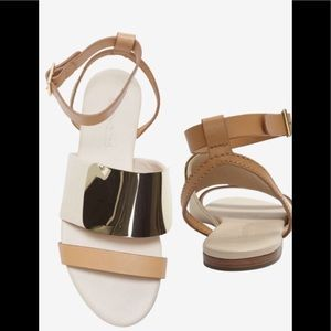 See by Chloe Gold ivory sandals 41